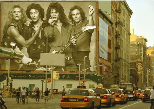 A vintage Van Halen billboard would make downtown NY shine! I would move back to the city in a heartbeat If that was installed! Need one for Long Island lol!