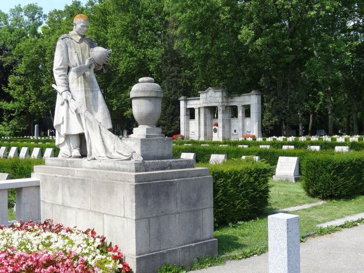Soviet monument and graves, Vienna Central Cemetery, July 2014.