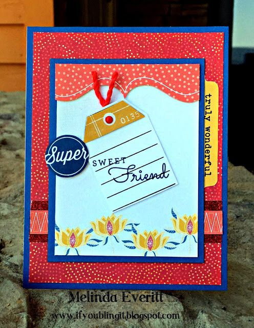 If You Bling It: July Stamp of the Month Blog Hop - From the Notebook