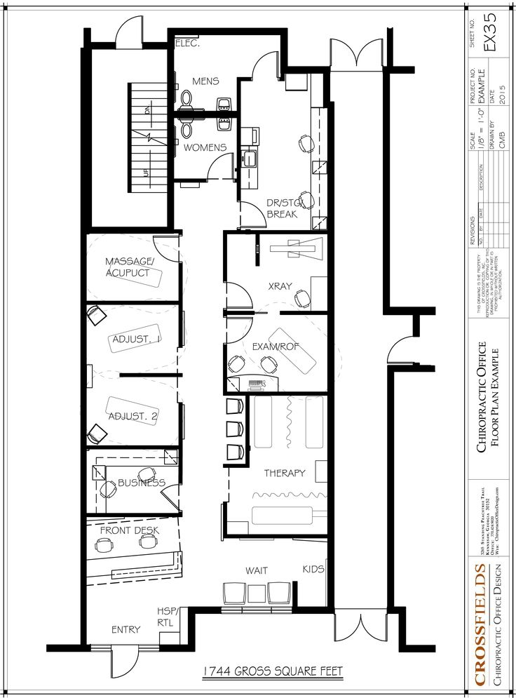 Chiropractic office floor plans versatile medical office - Commercial office plans and designs ...