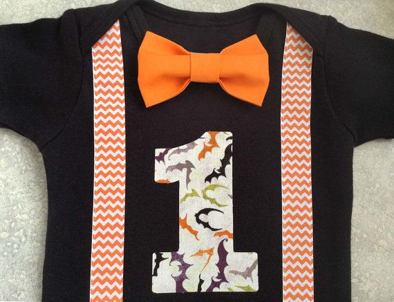 Boys First Birthday Outfit  Baby Boy Halloween by SewBoyBaby