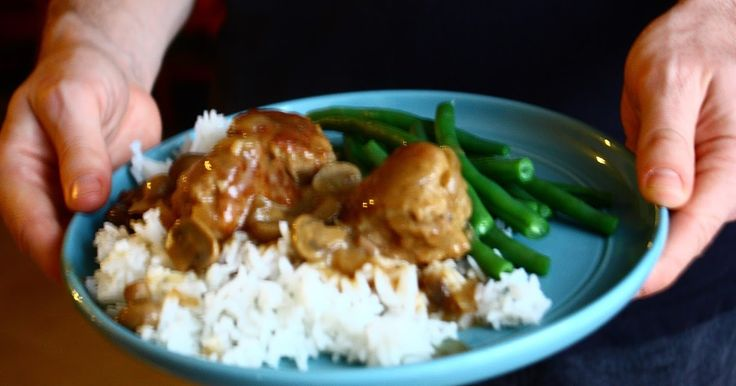Slow Cooker Salisbury Meatballs great for a rainy winters day