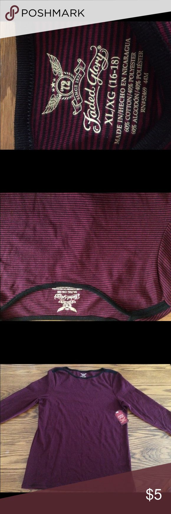 long sleeve Faded Glory shirt 💫never worn 💫long sleeve Faded Glory Tops Tees - Long Sleeve