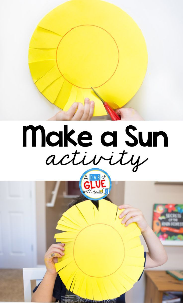 Are your preschoolers ready to start learning scissor skills? Do they have the fine motor control necessary to start exploring activities that require cutting? This Make A Sun Scissor Skills Activity is the perfect starter project for kids that are just learning how to use scissors! via @dabofgluewilldo