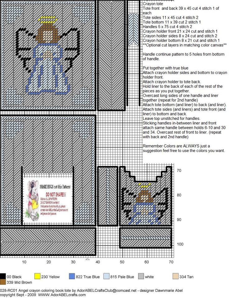 ANGEL COLORING BOOK TOTE