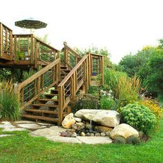 Like this look for deck stair area