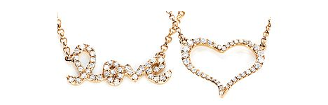 There are a lot of ways to say 'I love you'. How about these diamond necklaces? #Yorxs #Diamantkette #Diamantschmuck