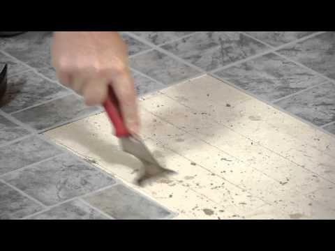 How to Remove Vinyl Tiles & Adhesive From Wood Flooring : Flooring Help - YouTube