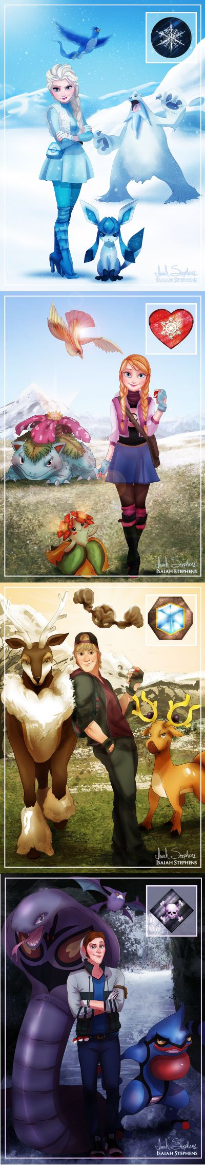 Arendelle as Next Pokémon Region • I'm not even into Pokemon, but this is pretty cool! :)