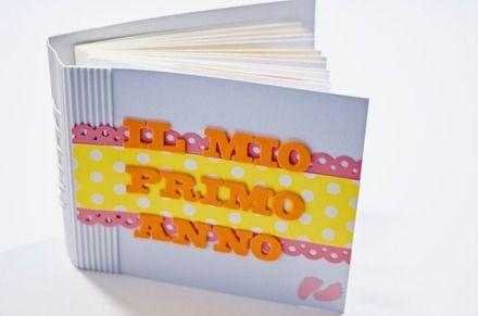 """Handmade album """"my first year"""" - baby girl Album foto per bimba realizzato a mano """"il mio primo anno"""""""