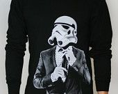 Storm trooper Smart Trooper - Mens / Unisex Long Sleeve t-shirt ( Star Wars long sleeve t shirt )