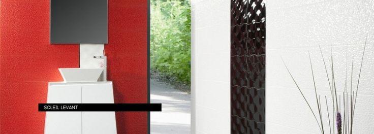 Плочки за баня Soleil Levant Black&Red