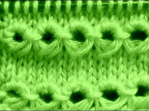 Cómo Tejer Punto Peruano-Broomstick Loop Stitch 2 Agujas (120) - YouTube
