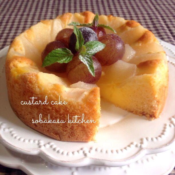 梨のカスタードケーキ