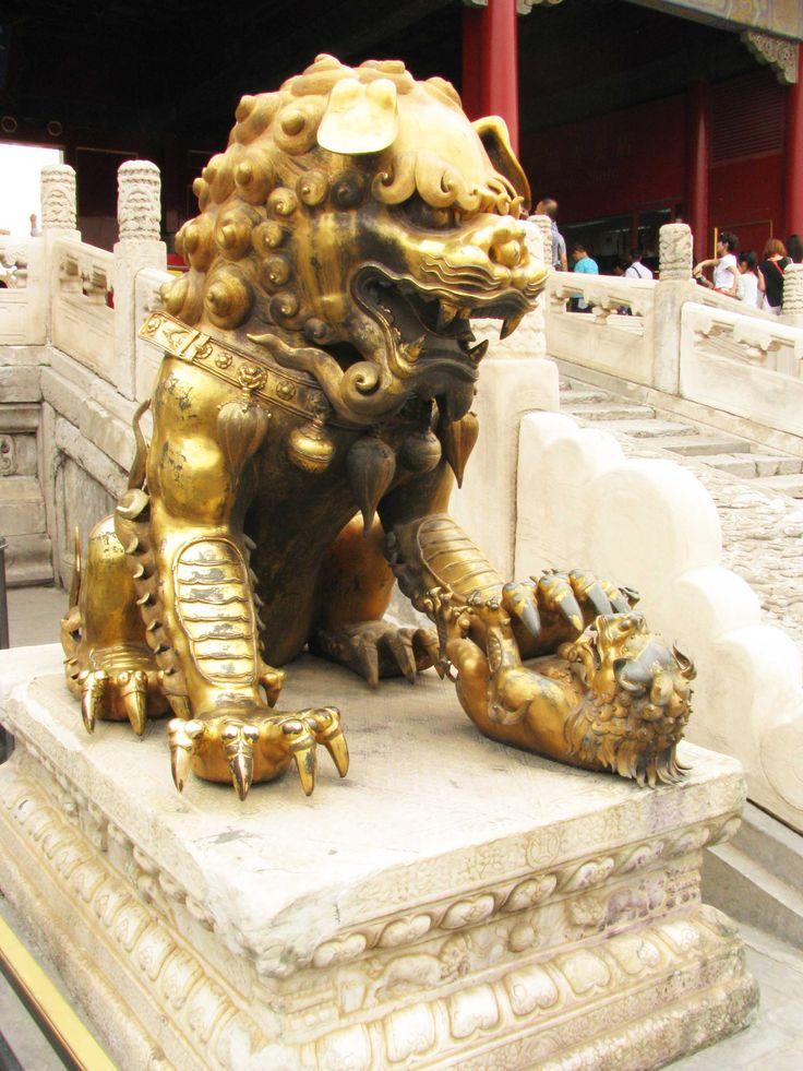 beijing - forbidden city - Chinese guardian lions