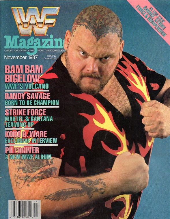 WWF Magazine November 1987 Bam Bam Bigelow Cover