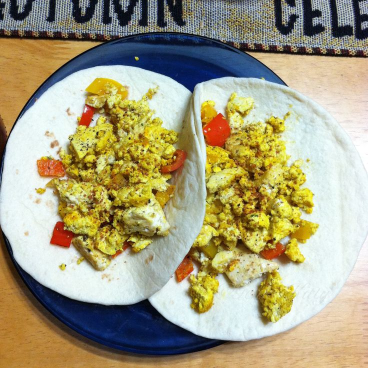 Leftover tofu scramble idea