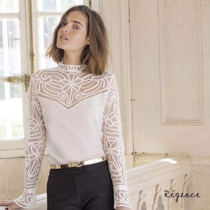 Anne Fontaine chemise victorienne Más