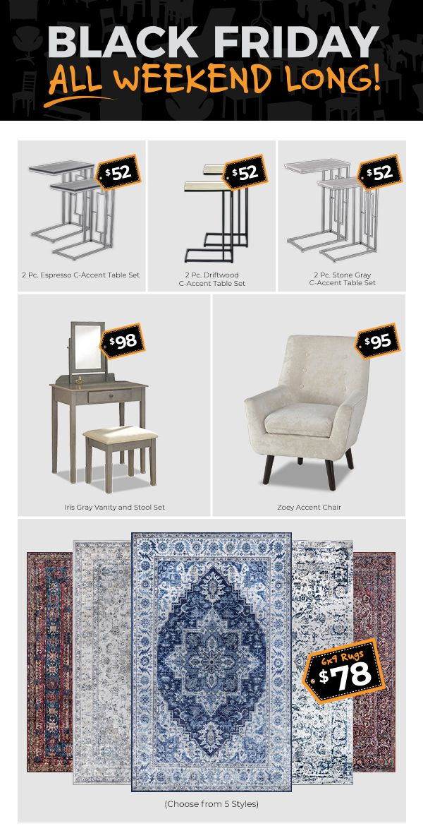 Black Friday Deals All Weekend Long, Furniture Black Friday Specials