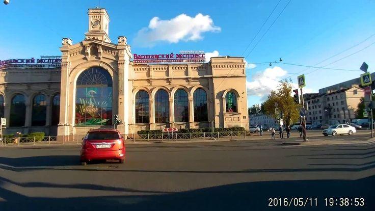 Езда на велосипеде, через пробки! СПБ московский проспект!