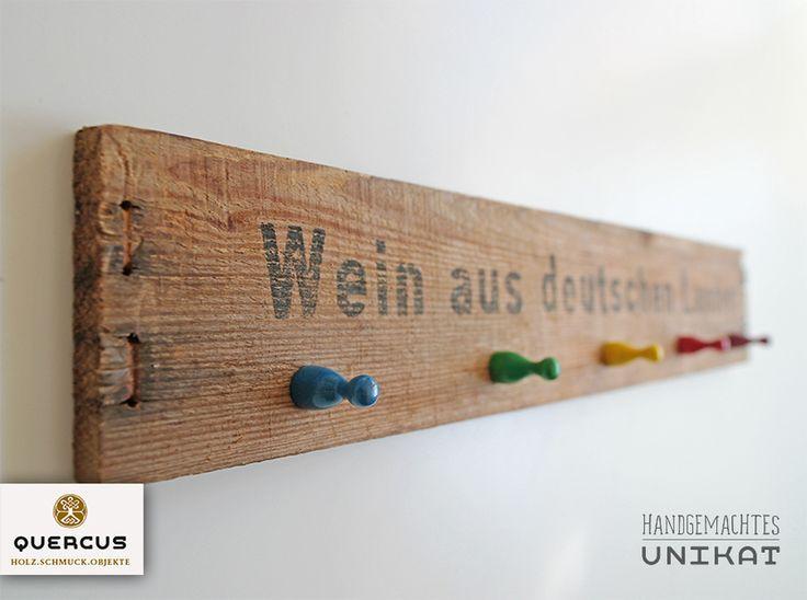 """Schlüsselbrett """"Bunter Wein"""" von ... Quercus Holz.Schmuck.Objekte ... auf DaWanda.com"""