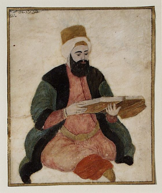 Portrait of Sultan Murad III (reigned 1574-1595) Seated Turkey, circa 1730-1750 Manuscripts; folios