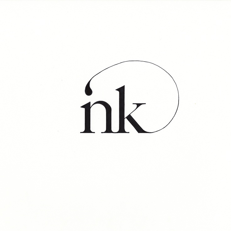 This logo is interesting. It's a play on minimalism  but still has serifs and flourishes to it that aren't necessary but add sophistication. I can't stop staring at it because i'm wondering how just a dot on the end can fill in the space and make me think it says INK. The type and creativity of this is something to take note of.