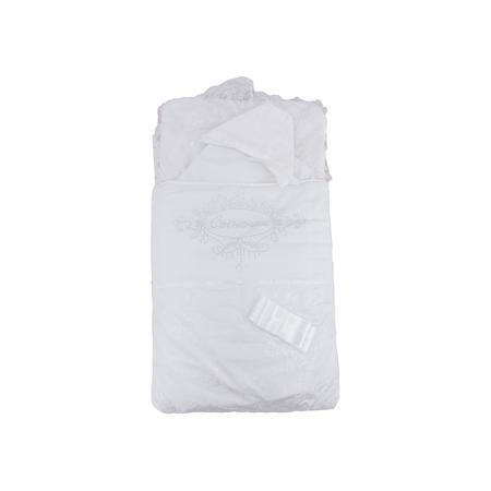 """Арго Комплект на выписку 4 пред. СЫНОЧЕК, Арго, шампань  — 3699р.  Момент выписки мамы с ребенком из роддома - один из самых трогательных. Сделать его более торжественным поможет красивый комплект для выписки. Он состоит из четырех предметов: конверта, нарядного одеяла, нарядного чепчика и атласной ленточки. Одеяло сшито из красивого сатина и обшито кружевами. Конверт - из тика и сатина, украшен стразами """"Сыночек"""". Материалы подобраны специально для новорожденных. Они гипоаллергенны…"""