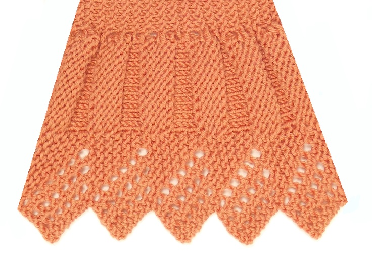 Knitting Reversible Lace Stitches : Fluted Edging is another reversible knitting stitch and can be found in both ...
