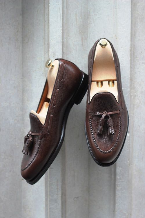 Love the pebble grain on these tassel loafers
