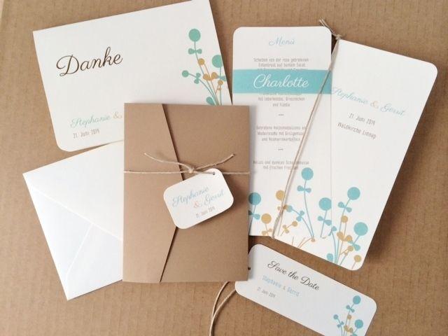 Pocket Fold Einladungskarte   Natura