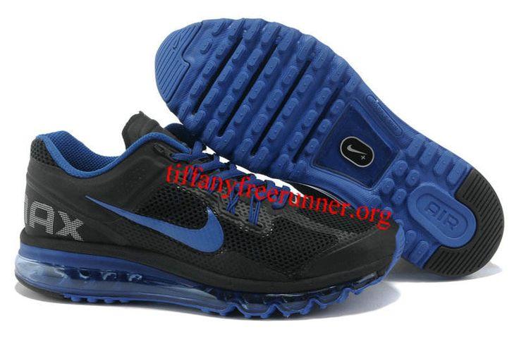 Mens Nike Air Max 2013 Black Royal Blue Shoes