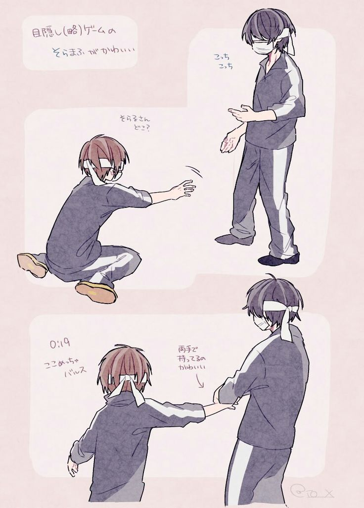 """Soraru-san?? Where are you??"" ""*Try to grab Mafu's hand*"""