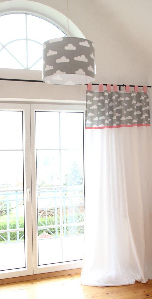 Gardinen Vorhänge Vorhang Wolken Grauweiß 140 X 250 Cm Ein