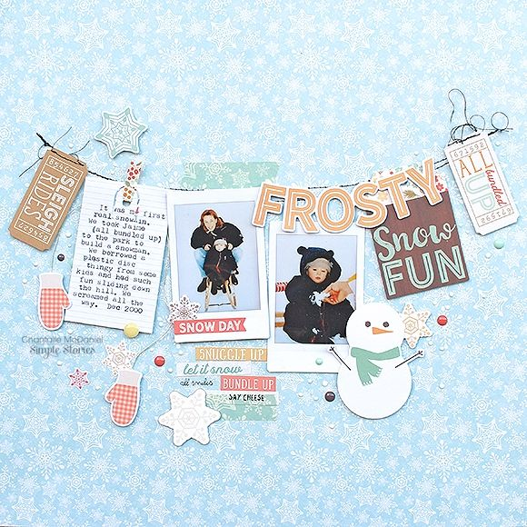 Designed by creative team member Chantalle McDaniel using our Winter Wonderland collection