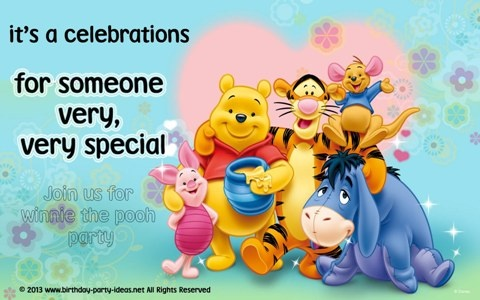 Throw a perfect Pooh Party #party #birthday #decoration #cakes #favors #themedbirthday #games #printable #quotes #invitation #sayings #birthdaypartyideas #bpartyideas  #pooh