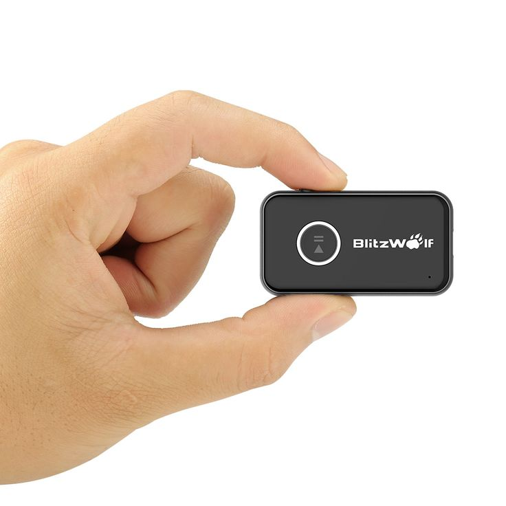 BlitzWolf® BW-BR1 Bluetooth V4.1 Car Handsfree Music Receiver 3.5mm AUX Audio Adapter