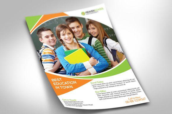 School Promotion Flyer by alauddinsarker on Creative Market