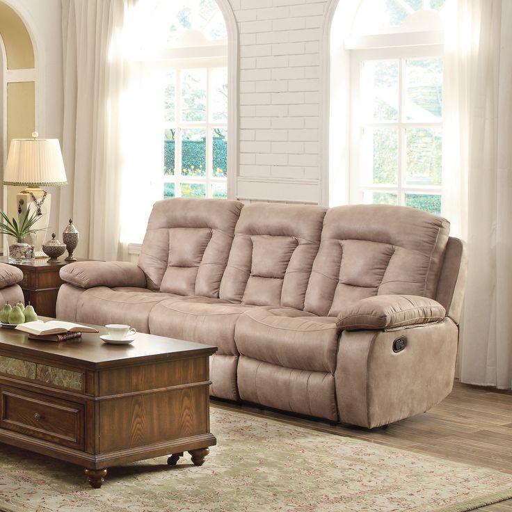 Coaster Furniture Evensky Bone Reclining Sofa (Beige) (