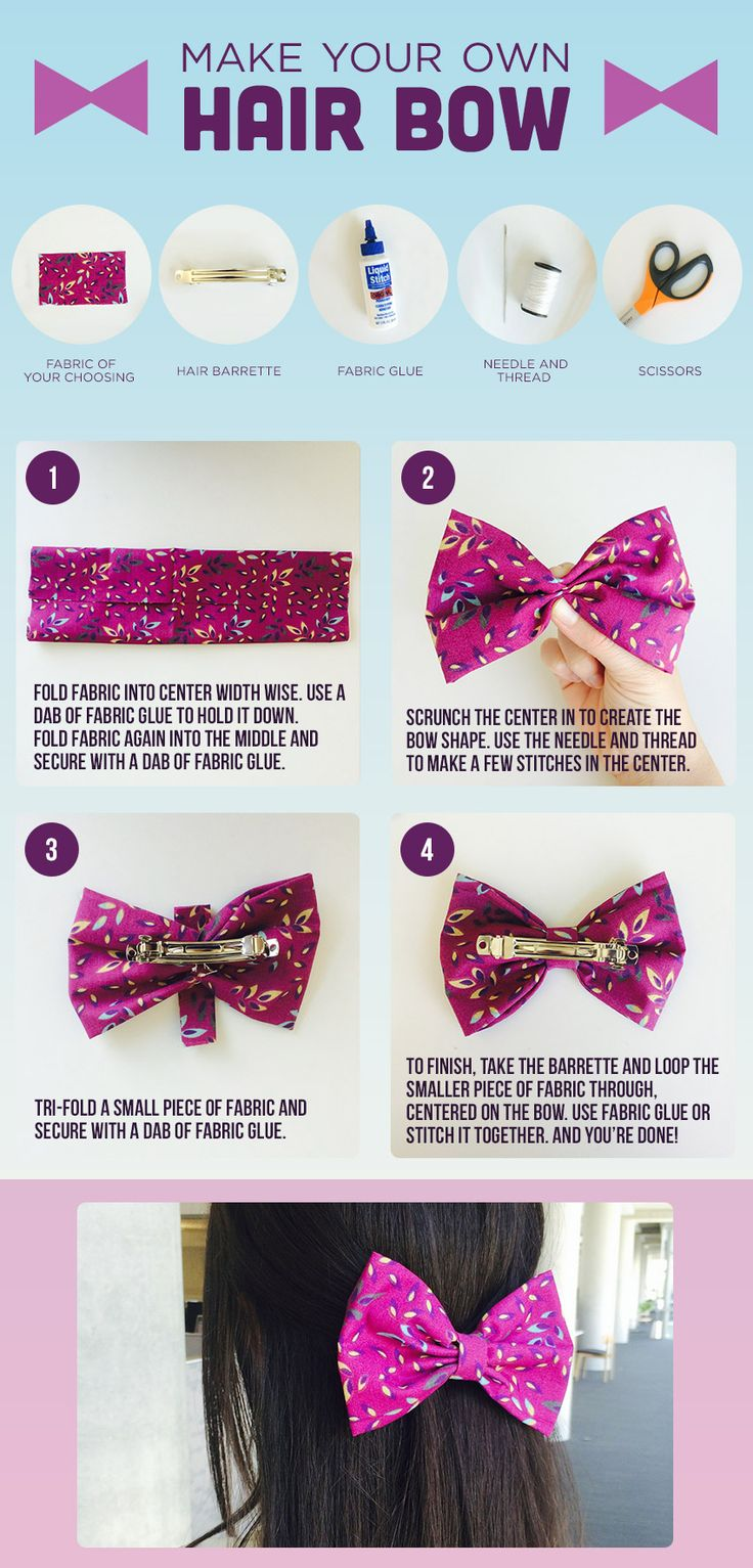 Fabric hairbow diy
