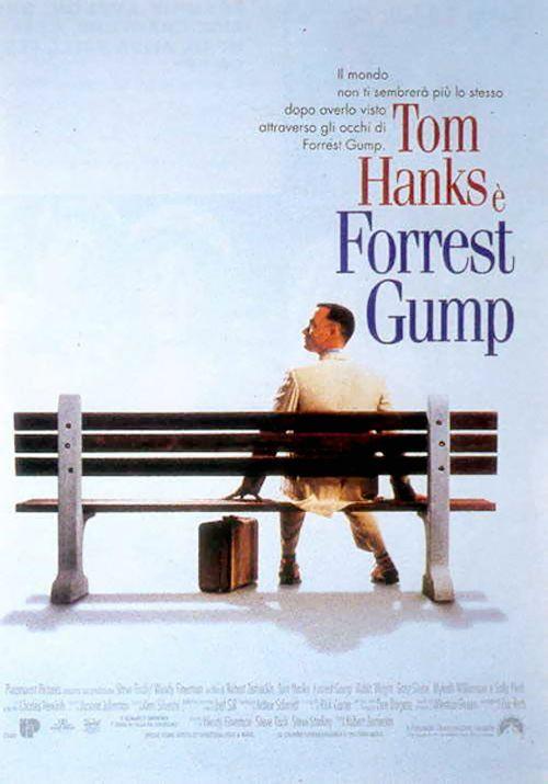 """Forrest Gump""  Regia: Robert Zemeckis.  Anno: 1994 Cast: Tom Hanks, Robin Wright, Gary Sinise, Sally Field"
