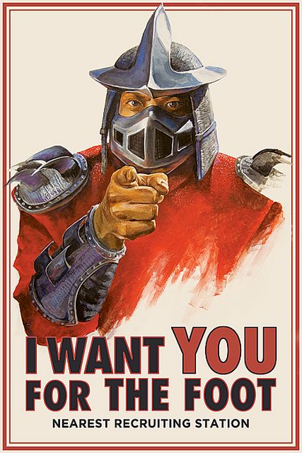 I have to admit. I had a crush on Shredder when I was a girl.  I'm not sure why, Maybe it was the sexy mask!
