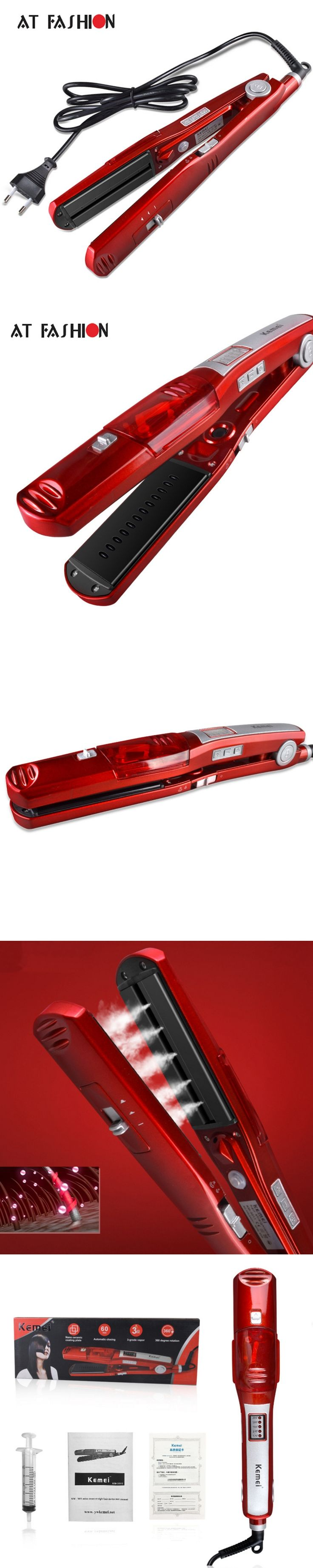110-240V Steam Hair Straightener Professional Hair Styling Tools Ceramic Electric High Quality Flat Irons