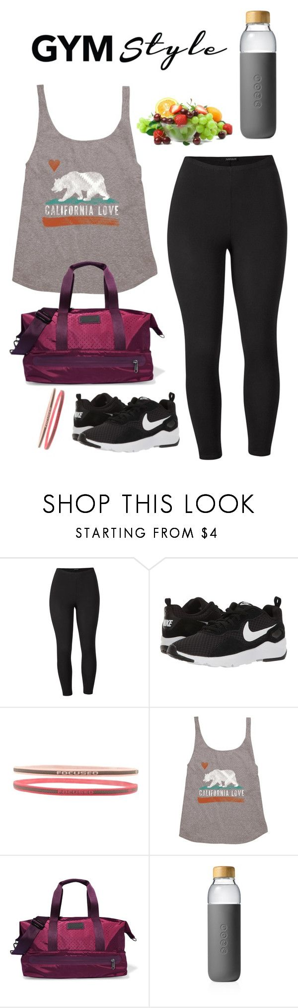 """""""cardio workout"""" by queen-amadalek ❤ liked on Polyvore featuring Venus, NIKE, Forever 21, Billabong, adidas, Soma and plus size clothing"""