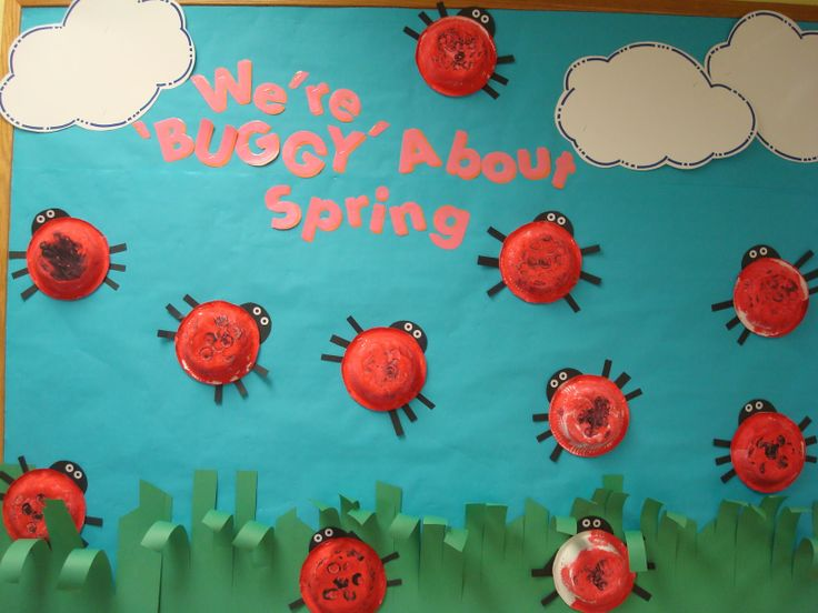 "Trinity Preschool MP: Lady Bug ""We're ""buggy"" about spring"" bulletin board"