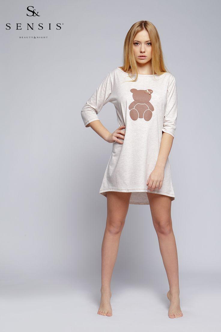 Dámská noční košile s medvídkem #nightdress with #teddybear