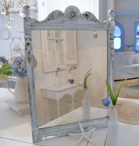 shabby chic mirror shabby chic furniture by backporchco on Etsy, $115.00