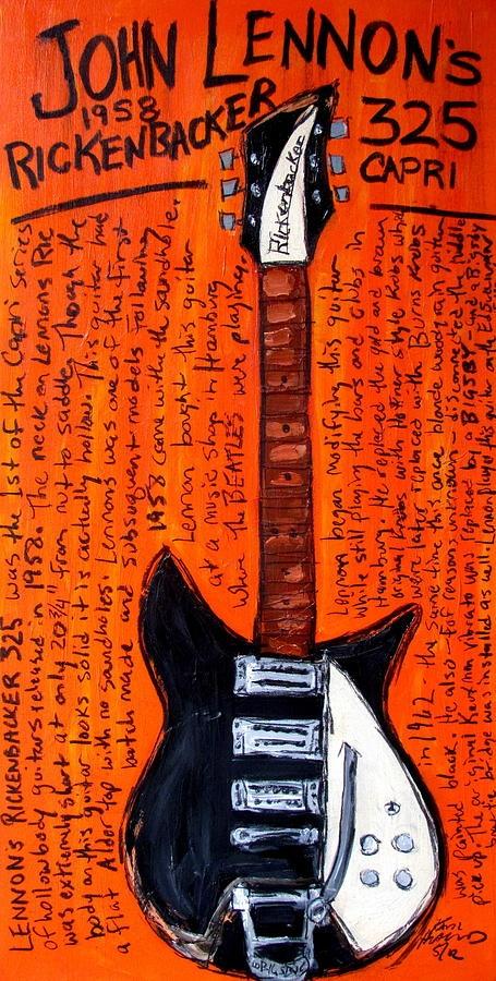 John Lennon's Rickenbacker Painting  - Karl Haglund