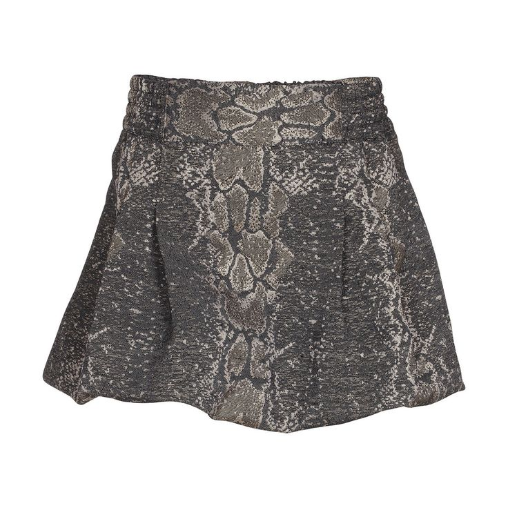 Molo Buffy Bronx Snakeskin Puffball Skirt