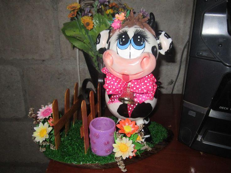 Linda vaca porta servilletas